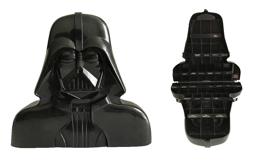 VIntage  Star Wars loose Darth Vader Action Figure Case - Used