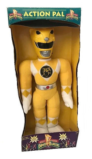 1993 Mighty Morphin Power Rangers Action Pal Plush Doll 20 inch Yellow Trini