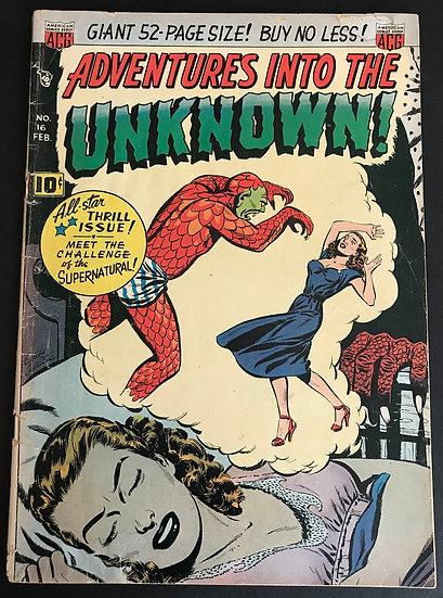 Adventures into the Unknown (1948 ACG) #16 VG