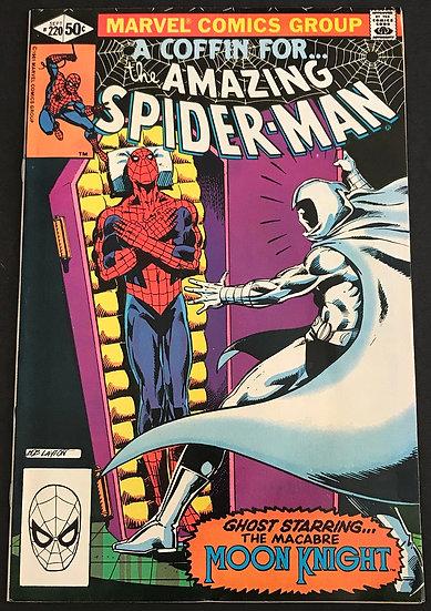 Amazing Spider-Man (Marvel) #220 VF [Moon Knight App]