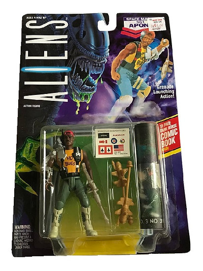 1992 Aliens Space Marine SGT. Apone Action Figure By Kenner