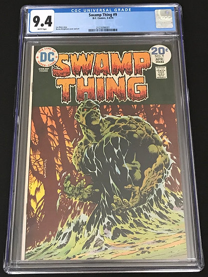 Swamp Thing 9 CGC 9.4 White Pages