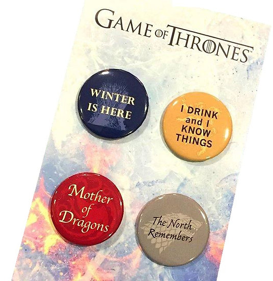 Game Of Thrones 4 Pack Pin-sets FYE Exclusive