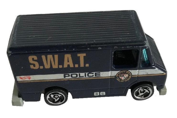 1986 Vintage Hot Wheels Black Police S.W.A.T. #86 Van