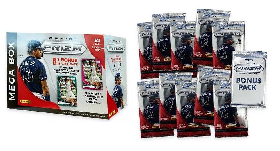 2020 Panini Prizm Baseball Trading Card Mega Box