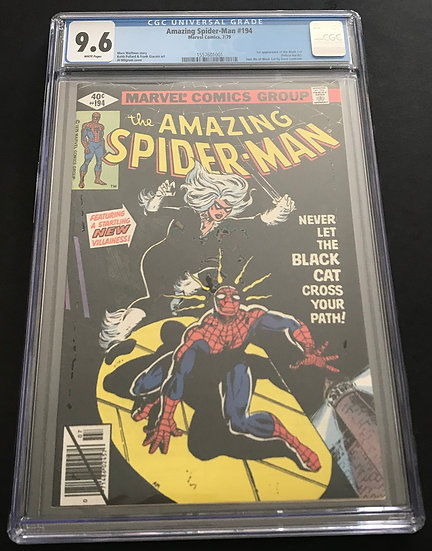 Amazing Spider-Man 194 CGC 9.6 White Pages