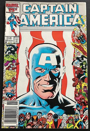 Captain America (Marvel ) #323 FN [Tears & Fold At Pgs.]