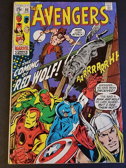 Avengers 80 FN- 1st Appearance of Red Wolf