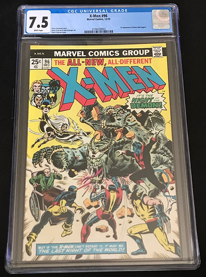 X-Men 96 CGC 7.5 White Pages