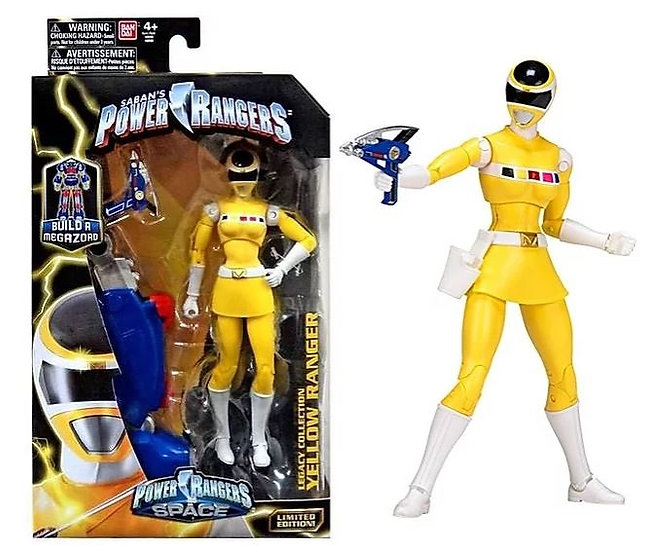 Power Rangers Legacy Series Space Yellow Ranger Action Figure