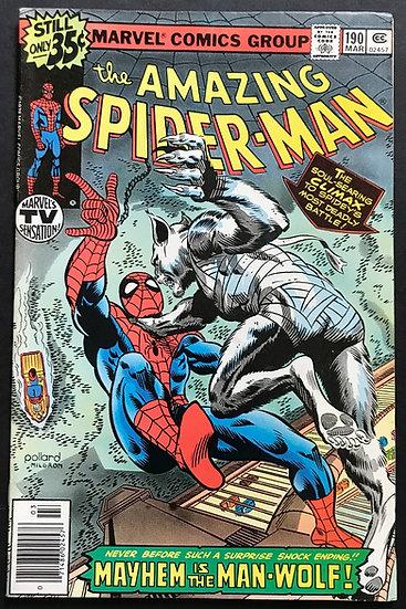 Amazing Spider-Man (Marvel) #190 VF [Man-Wolf appearance.]