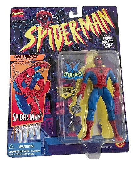 1996 Spider-Man With Web Shooter With Web Projectile FIgure