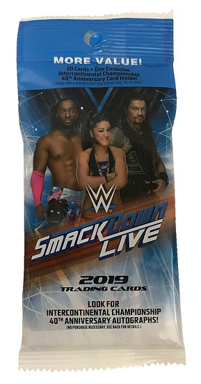 2019 WWE Smack Down Live Trading Cards Hot Pack