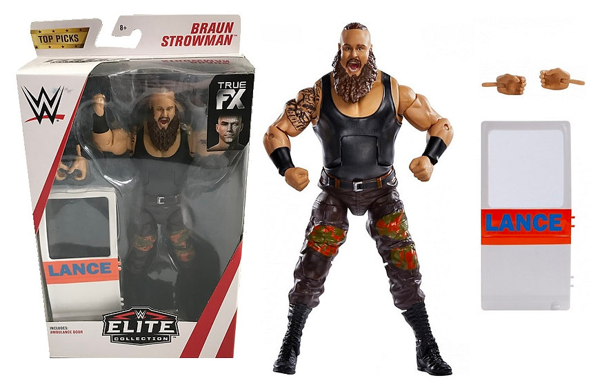 WWE Elite Collection Braun Strowman Wrestling Figure