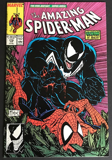 Amazing Spider-Man 316 VF/NM 1st Full Venom Cover. Classic McFarlane Cover.