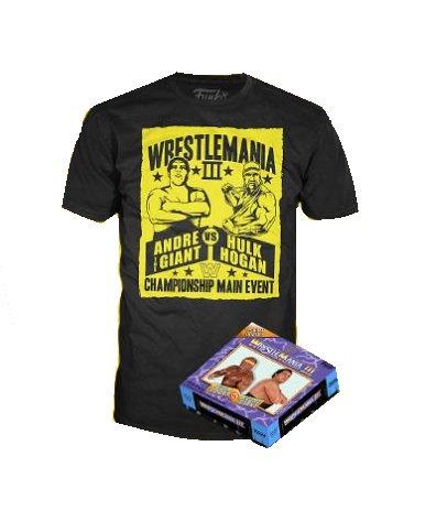 WWE Wrestlemania 3 Boxed Hulk Hogan VS Andre The Giant Display Ring And T-Shirt