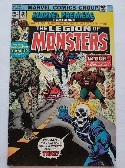 Marvel Premiere 28 FN 1st Appearance of Legion of Monsters