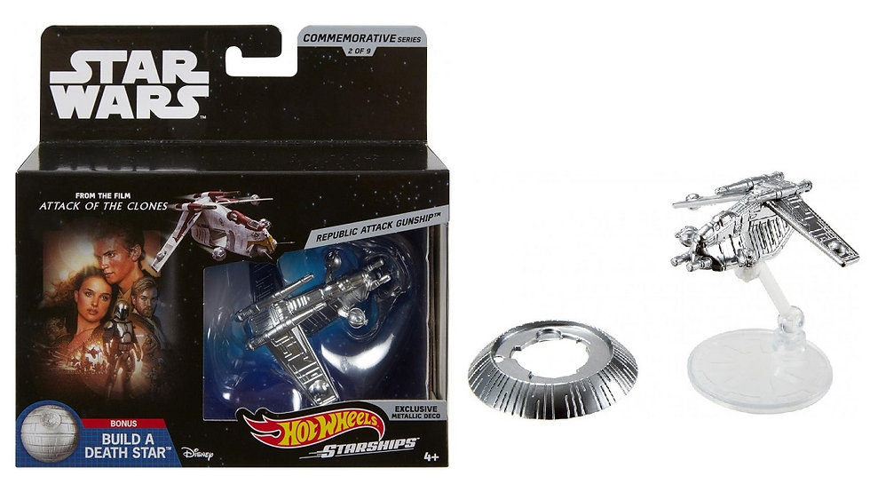 Hot Wheels Star Wars Commemorative Series Republic Attack Gunship Starship