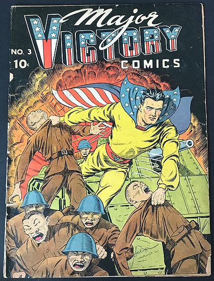 Major Victory Comics (1944) #3 [Imcomplete,Torn Out Part 1st Page]