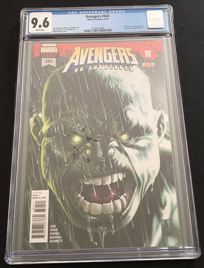 Avengers 684 CGC 9.6 White Pages. 1st Immortal Hulk.