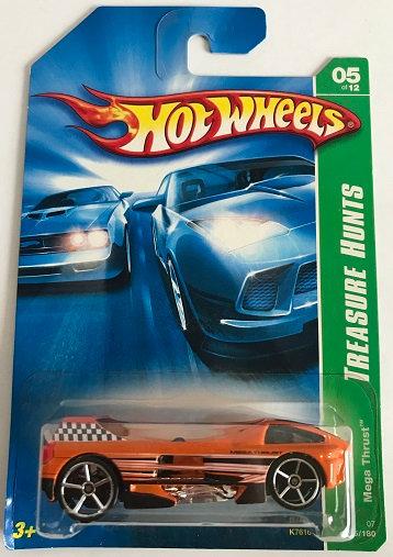 Hot Wheels Treasure Hunts 07 Mega Thrust - 125/180 New Sealed