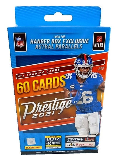 2021 Panini Prestige NFL Football 60 Card Hanger Box