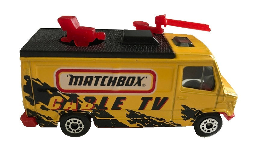 1989 Vintage Matchbox Car Cable TV News Truck