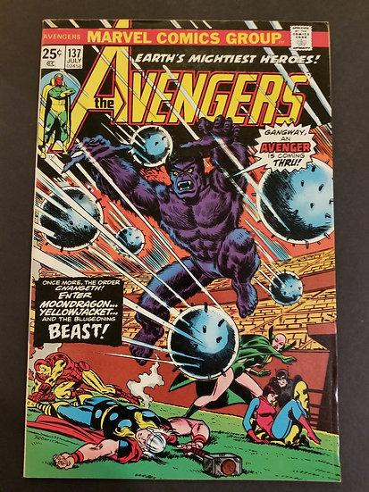Avengers (Marvel ) #137 VF [Beast Appearance.]