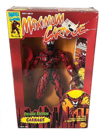 1994 Marvel Comics Maximum Carnage 10 inch Carnage Deluxe Edition By Toy Biz.