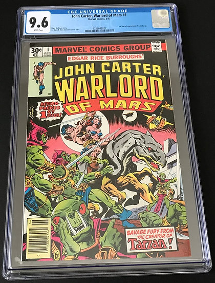 John Carter Warlord #1 CGC 9.6 White Pages. 1st Marvel Appearance of John Carter