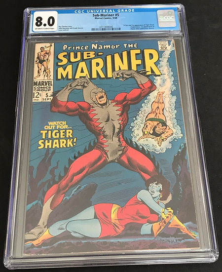 Sub-Mariner (Marvel) #5 CGC 8.0 Off-White To White Pages