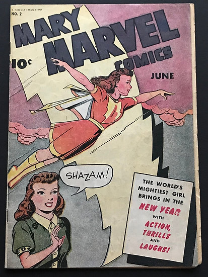 Mary Marvel Comics (1945) 2 FN [Loose centerfold. Very scarce and rare.]