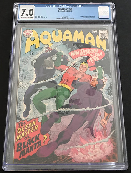 Aquaman 35 CGC 7.0 Off White To White Pages