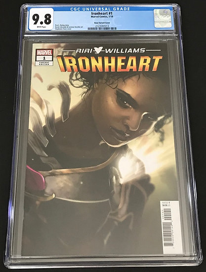 Ironheart (2018 Marvel) #1C CGC 9.8 White Pages [Hans Variant Cover]