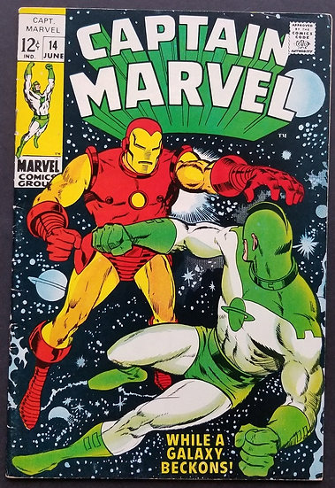Captain Marvel (Marvel) #14 VF/NM [Iron Man appearance.]