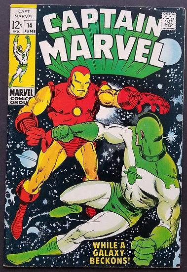 Captain Marvel (1968 1st Series Marvel) #14 VF/NM [Iron Man appearance.]