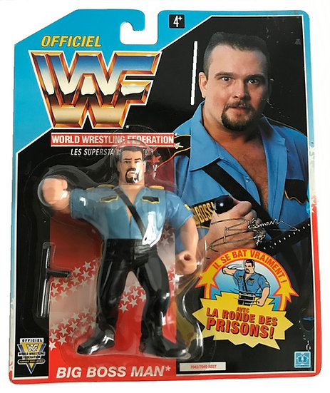 1992 Hasbro WWF Big Boss Man is MOC and is a French Variant.