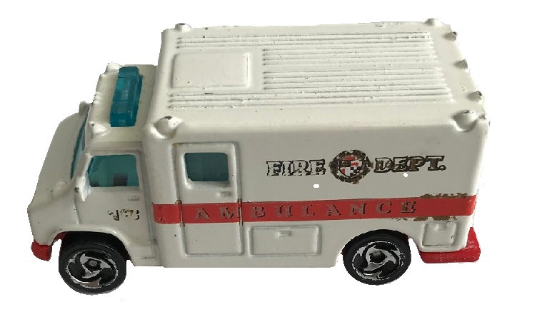 1988 Vintage Hot Wheels Fire Dept Ambulance