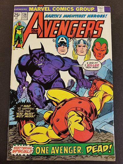 Avengers (1963 1st Series) #136 NM- [Beast Appearance.]