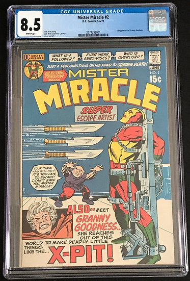 Mister Miracle 2 CGC 8.5 White Pages