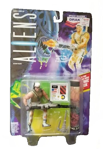 1992 Kenner Aliens Drake is MOC.