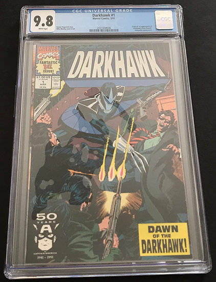 Darkhawk 1 CGC 9.8 White Pages. 1st appearance of Darkhawk.