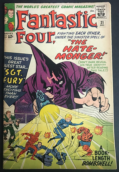 Fantastic Four (1961 1st Series) #21 VG+