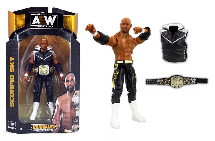 AEW Unrivaled Series 5 Scorpio Sky Wrestling Figure