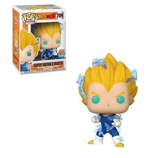 Funko Pop Dragon Ball Z Super Saiyan 2 Vegeta 709 PX Previews Exclusive