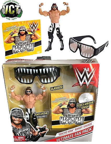 WWE Ultimate Fan Pack Macho Man Randy Savage Includes Glasses And Exclusive Dvd