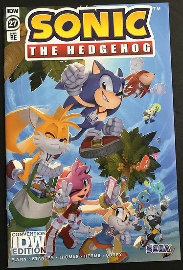 Sonic The Hedgehog #27RE Cover NM [Convention Exclusive]