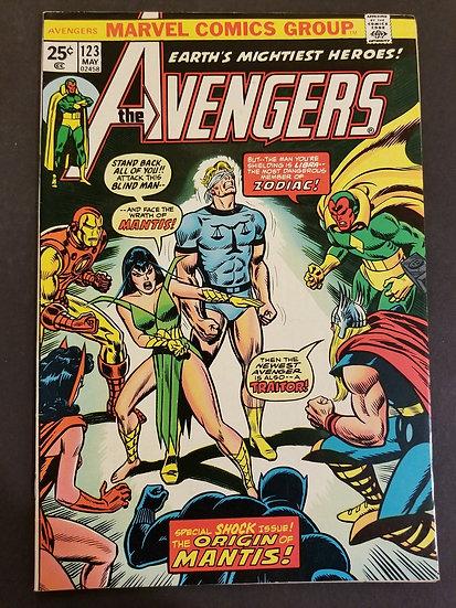 Avengers (1963 1st Series) #123 VF [Origin of Mantis.]