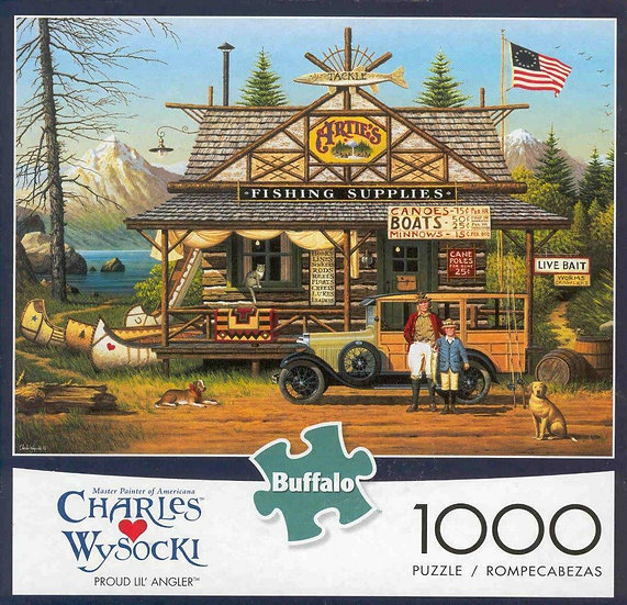 Buffalo Games Charles Wysocki Proud Lil' Angler 1000 Puzzle