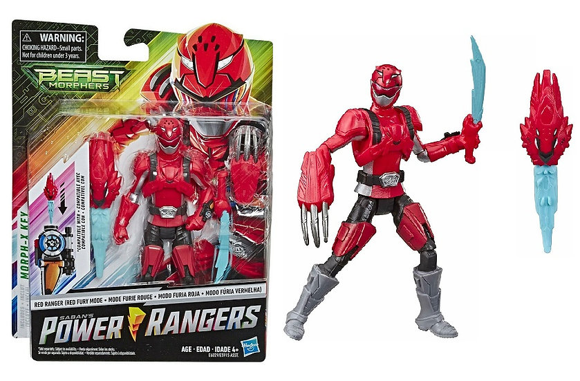 Power Rangers Beast Morphers Red Ranger Fury Mode Basic Action Figure